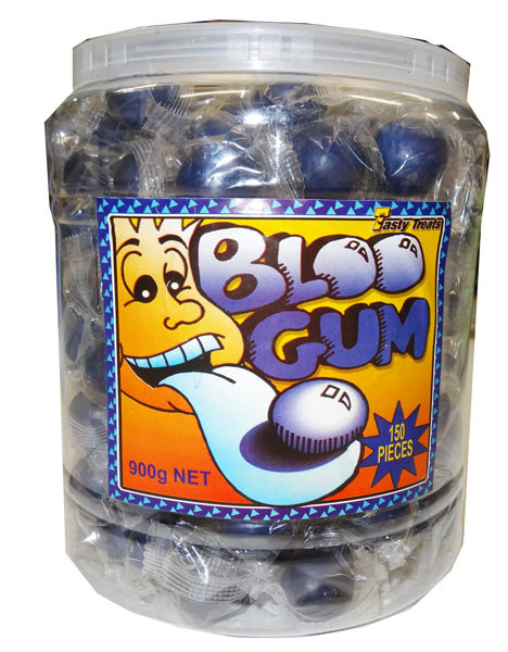 Bloo Gum, by Tasty Treats,  and more Confectionery at The Professors Online Lolly Shop. (Image Number :4605)