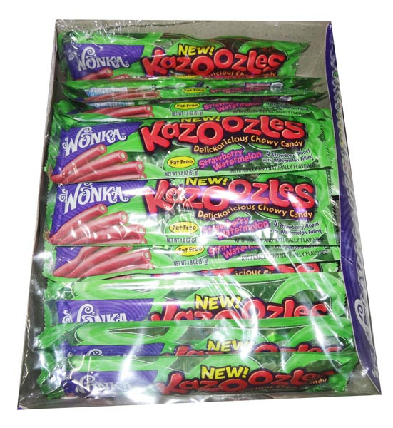 Wonka Kazoozles - Strawberry and Watermelon, by Wonka,  and more Confectionery at The Professors Online Lolly Shop. (Image Number :6334)