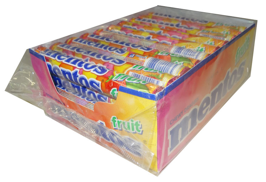 Mentos - Fruit, by Perfetti Van Melle,  and more Confectionery at The Professors Online Lolly Shop. (Image Number :4371)