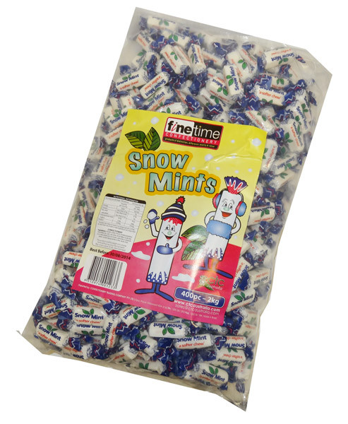 Finetime Snow Mints, by FineTime,  and more Confectionery at The Professors Online Lolly Shop. (Image Number :4678)