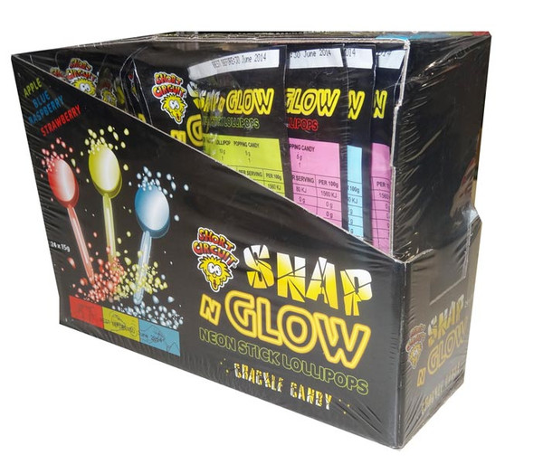Snap and Glow Neon Stick Lollipops, by Other,  and more Confectionery at The Professors Online Lolly Shop. (Image Number :4468)