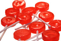 Single Colour Lollipops - Red - Tutti-Frutti Flavour (Our main image of this Confectionery)
