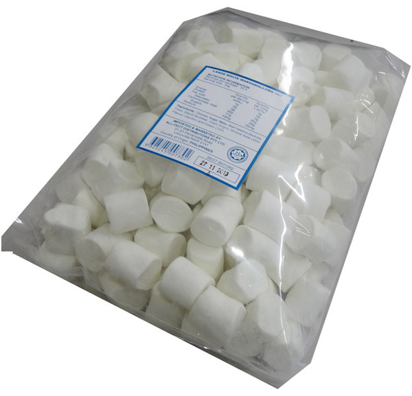 Large White Marshmallows, by AllFect Distributors/Marshies,  and more Confectionery at The Professors Online Lolly Shop. (Image Number :4366)