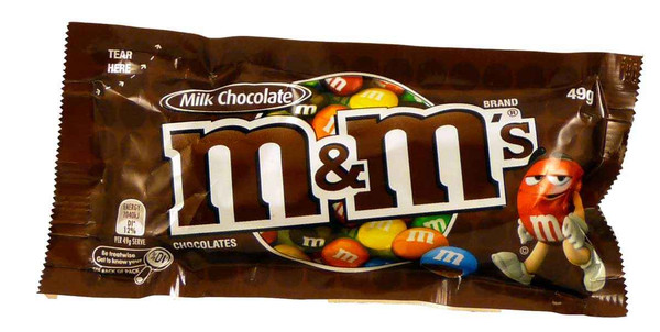 M&M Milk Chocolate, by Mars,  and more Confectionery at The Professors Online Lolly Shop. (Image Number :4284)
