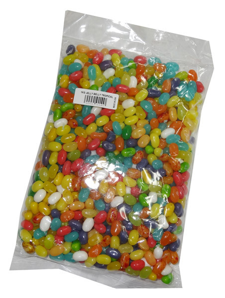 Jelly Belly - Gourmet Jelly Beans - Tropical Mix, by Jelly Belly,  and more Confectionery at The Professors Online Lolly Shop. (Image Number :4797)