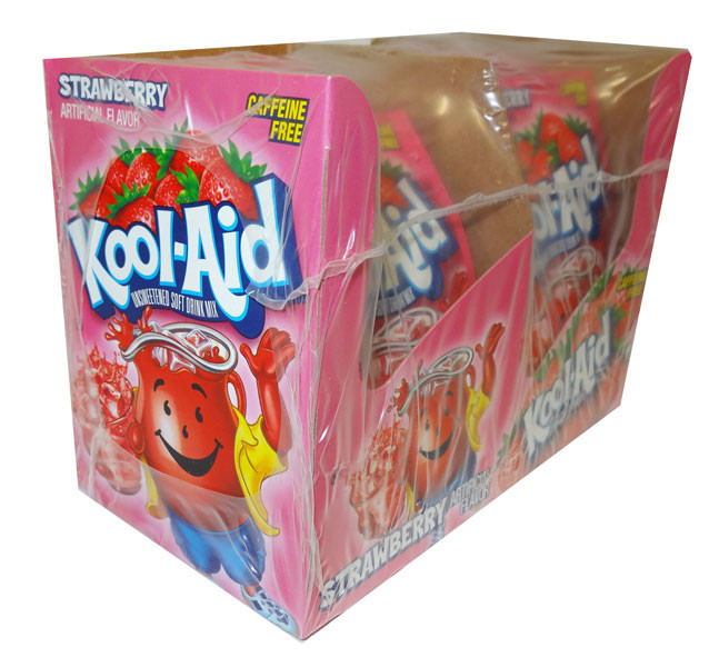 Kool Aid Pack  - Strawberry, by Kool Aid,  and more Beverages at The Professors Online Lolly Shop. (Image Number :4653)