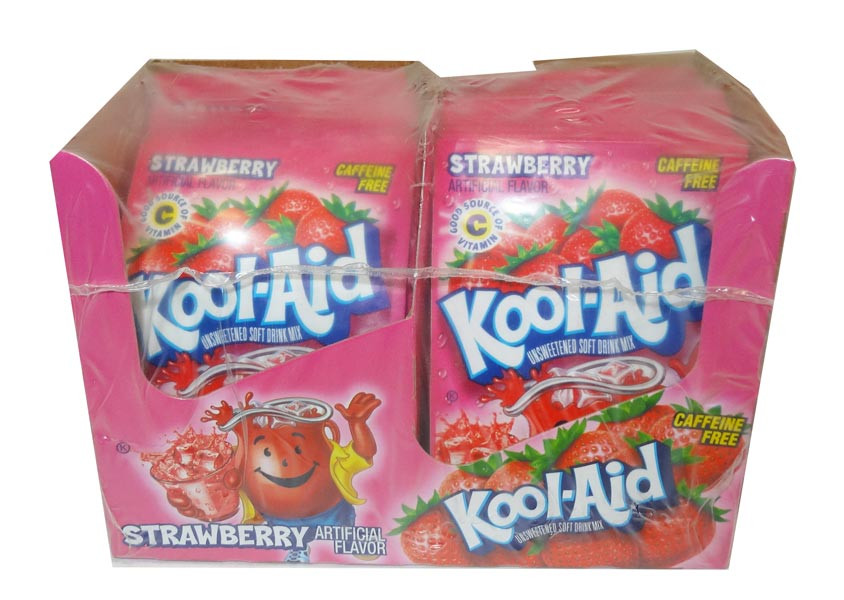 Kool Aid Pack  - Strawberry, by Kool Aid,  and more Beverages at The Professors Online Lolly Shop. (Image Number :4684)