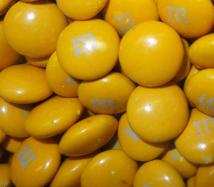 Single Colour M&M s - Gold, by Mars,  and more Confectionery at The Professors Online Lolly Shop. (Image Number :4428)