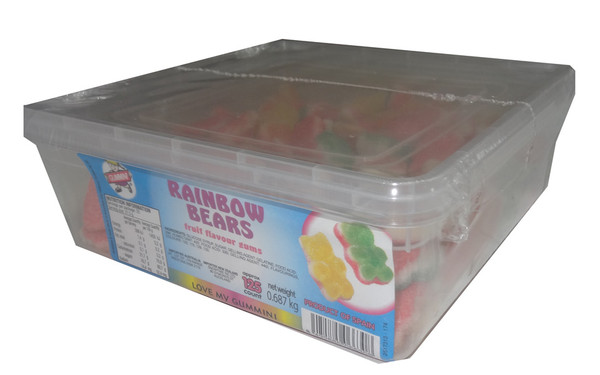 Gummini Rainbow Bears, by AIT Confectionery,  and more Confectionery at The Professors Online Lolly Shop. (Image Number :4803)