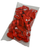 Chocolate Gems - Romeo Hearts - Embossed Red Foil, by Chocolate Gems,  and more Confectionery at The Professors Online Lolly Shop. (Image Number :4394)