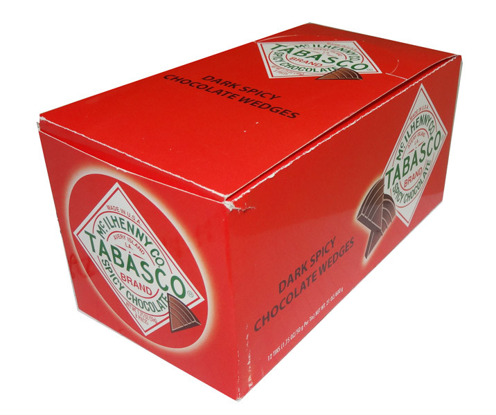 Tabasco Brand Spicy Chocolate, by McIlhenny Co/Other,  and more Confectionery at The Professors Online Lolly Shop. (Image Number :4534)