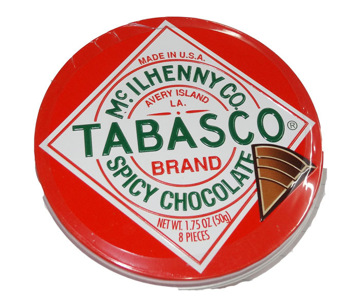 Tabasco Brand Spicy Chocolate, by McIlhenny Co/Other,  and more Confectionery at The Professors Online Lolly Shop. (Image Number :4535)