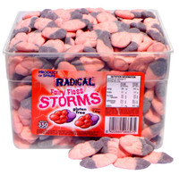 Radical Storms - Fairy Floss, by AIT Confectionery,  and more Confectionery at The Professors Online Lolly Shop. (Image Number :4658)