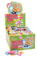 Mega Tattoo Gum, by Universal Candy,  and more Confectionery at The Professors Online Lolly Shop. (Image Number :4689)