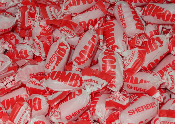 Sherbet Bombs, by Lagoon Confectionery,  and more Confectionery at The Professors Online Lolly Shop. (Image Number :4784)