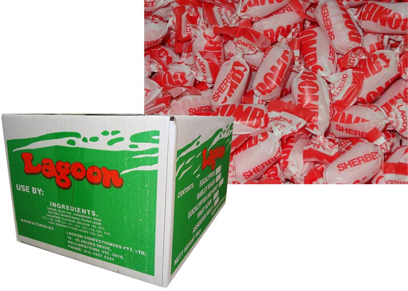 Sherbet Bombs, by Lagoon Confectionery,  and more Confectionery at The Professors Online Lolly Shop. (Image Number :8769)