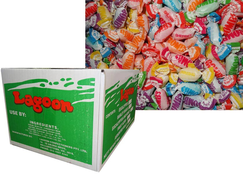 Fruity Sherbet Bombs, by Lagoon Confectionery,  and more Confectionery at The Professors Online Lolly Shop. (Image Number :8767)