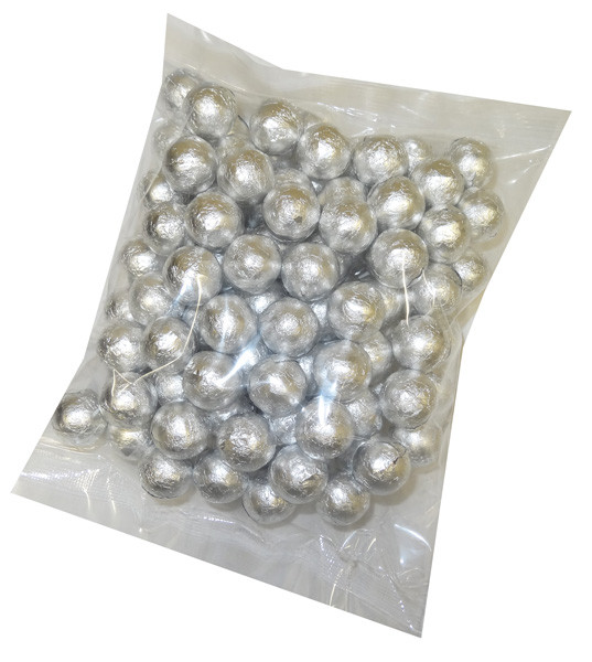 Foiled Milk Choc Silver Balls, by Confectionery Trading Company/Niagara,  and more Confectionery at The Professors Online Lolly Shop. (Image Number :5107)