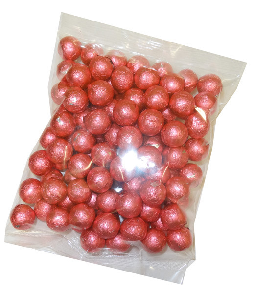 Foiled Milk Choc Bright Pink Balls, by Confectionery Trading Company/Niagara,  and more Confectionery at The Professors Online Lolly Shop. (Image Number :5104)