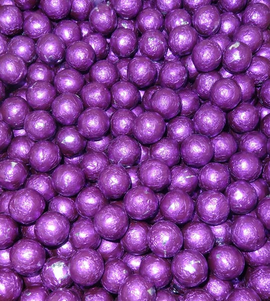 Foiled Milk Choc Purple Balls, by Confectionery Trading Company/Niagara,  and more Confectionery at The Professors Online Lolly Shop. (Image Number :5064)