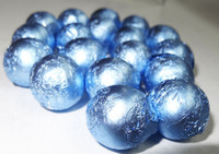Foiled Milk Choc Pastel Blue Balls, by Confectionery Trading Company/Niagara,  and more Confectionery at The Professors Online Lolly Shop. (Image Number :5020)