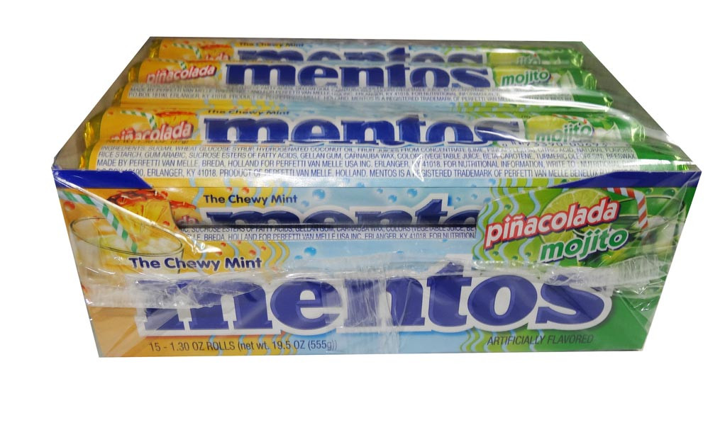 Mentos - Pinacolada Mojito, by Perfetti Van Melle,  and more Confectionery at The Professors Online Lolly Shop. (Image Number :4994)