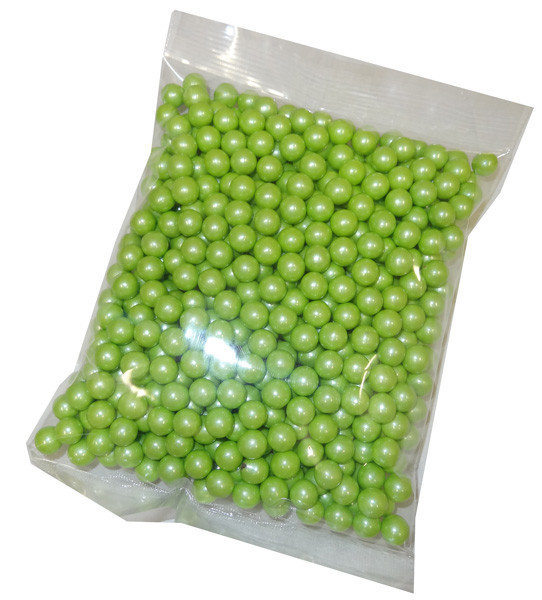 Sixlets - Shimmer Lime Green, by Sixlets,  and more Confectionery at The Professors Online Lolly Shop. (Image Number :5115)