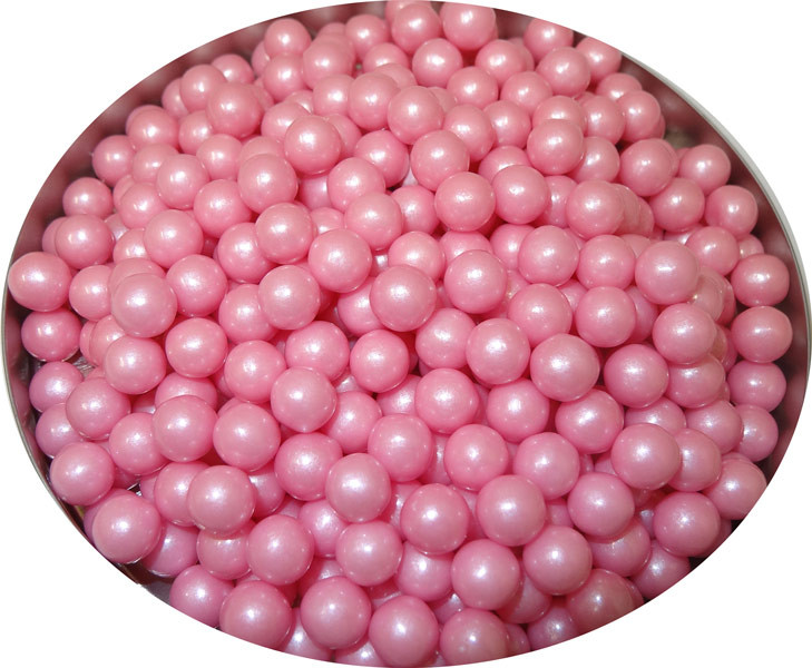 Pearls - Shimmer Light Pink, by Oak Leaf Confections,  and more Confectionery at The Professors Online Lolly Shop. (Image Number :5203)