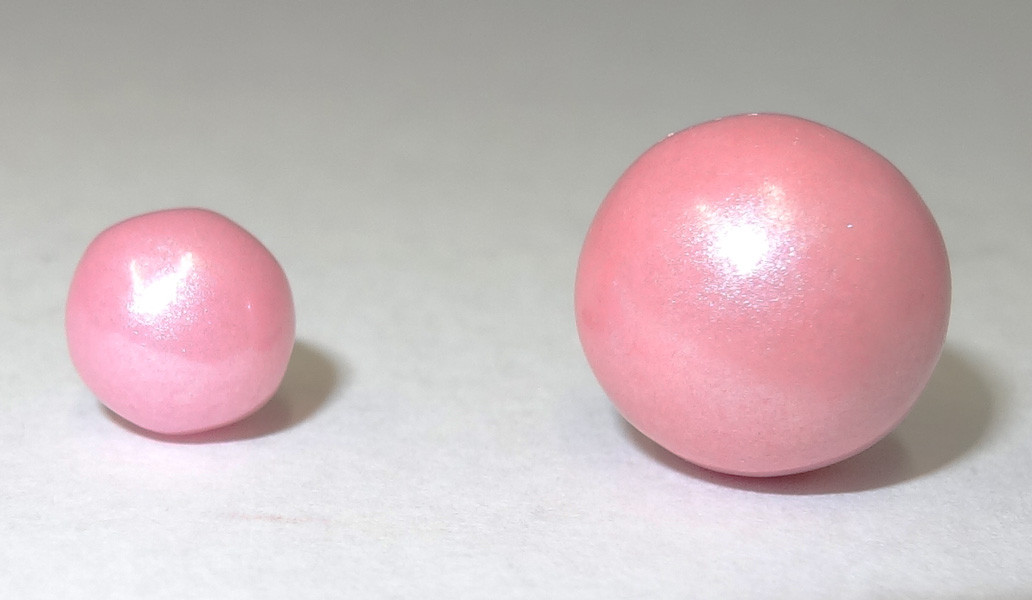Pearls - Shimmer Light Pink, by Oak Leaf Confections,  and more Confectionery at The Professors Online Lolly Shop. (Image Number :5204)