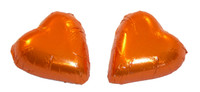 Chocolate Gems - Chocolate Hearts - Orange Foil, by Chocolate Gems,  and more Confectionery at The Professors Online Lolly Shop. (Image Number :5089)