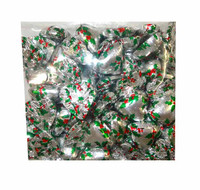 Chocolate Gems - Chocolate Hearts - Holly Foil (500g bag / approx 60 pieces)