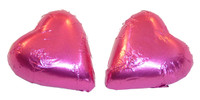 Chocolate Gems - Chocolate Hearts - Hot Pink Foil, by Chocolate Gems,  and more Confectionery at The Professors Online Lolly Shop. (Image Number :5097)