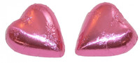 Chocolate Gems - Chocolate Hearts - Pink Foil, by Chocolate Gems,  and more Confectionery at The Professors Online Lolly Shop. (Image Number :5122)