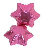 Chocolate Gems - Chocolate Stars - Pink Foil, by Chocolate Gems,  and more Confectionery at The Professors Online Lolly Shop. (Image Number :5141)