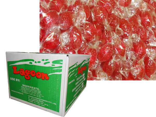 Acid Drops Box - Red, by Lagoon Confectionery,  and more Confectionery at The Professors Online Lolly Shop. (Image Number :6093)
