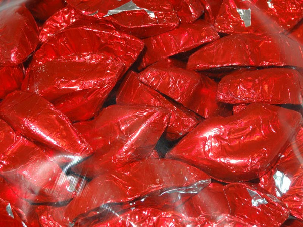 Chocolate Gems - Chocolate Kisses - Red Foil, by Chocolate Gems,  and more Confectionery at The Professors Online Lolly Shop. (Image Number :5150)