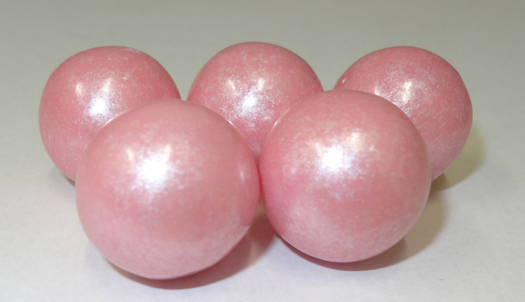 Gumballs - Shimmer Light Pink, by Oak Leaf Confections,  and more Confectionery at The Professors Online Lolly Shop. (Image Number :5252)