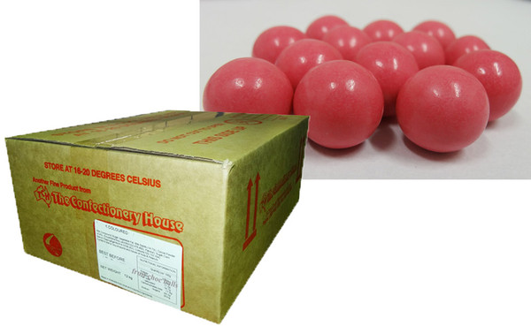 Fruit Choc Balls - Strawberry Pink, by Confectionery House,  and more Confectionery at The Professors Online Lolly Shop. (Image Number :9496)