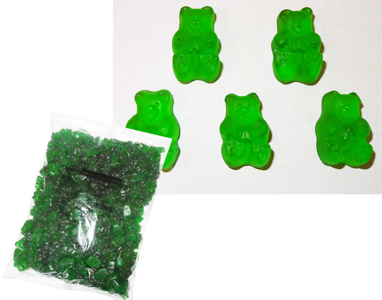 Bulk Gummi Bears Granny Smith Green Apple, by Albanese Confectionery/Other,  and more Confectionery at The Professors Online Lolly Shop. (Image Number :6171)