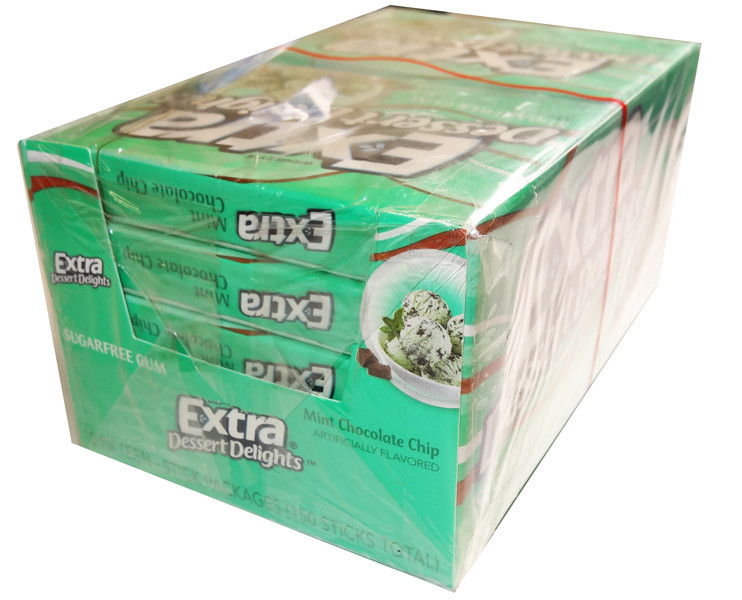 Extra Dessert Delights Mint Choc Chip, by Wrigley,  and more Confectionery at The Professors Online Lolly Shop. (Image Number :5365)