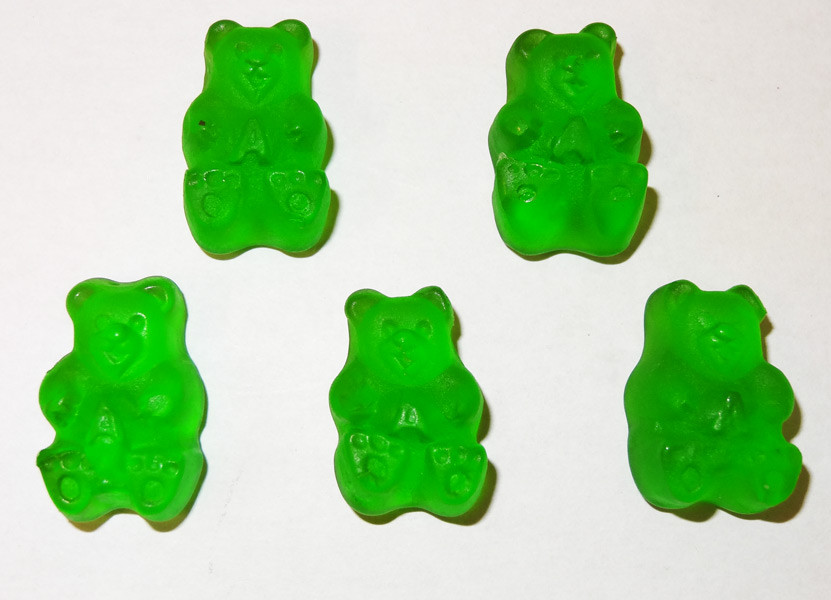 Gummi Bears Granny Smith Green Apple, by Albanese Confectionery/Other,  and more Confectionery at The Professors Online Lolly Shop. (Image Number :5351)