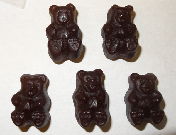 Gummi Bears Black Cherry, by Albanese Confectionery/Other,  and more Confectionery at The Professors Online Lolly Shop. (Image Number :5350)