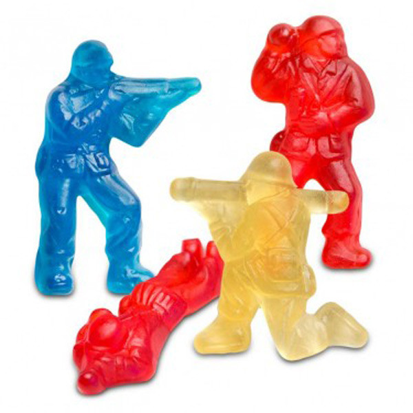 Gummi Military Heroes, by Albanese Confectionery/Other,  and more Confectionery at The Professors Online Lolly Shop. (Image Number :7282)