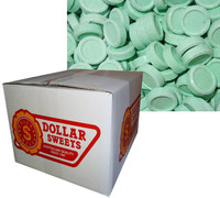 Spearmint Discs, by Candy Brokers/Dollar Sweets,  and more Confectionery at The Professors Online Lolly Shop. (Image Number :7262)