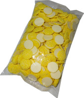 White Choc Sparkles - Yellow, by Confectionery Trading Company/Hugos Confectionery,  and more Confectionery at The Professors Online Lolly Shop. (Image Number :5449)