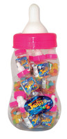 Baby Bottle Jelly Beans - Pink - Assorted Colour Jelly Beans, by Universal Candy,  and more Confectionery at The Professors Online Lolly Shop. (Image Number :7368)