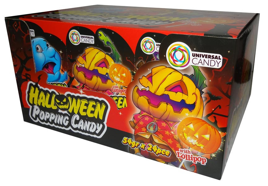 Halloween Popping Candy, by Universal Candy,  and more Confectionery at The Professors Online Lolly Shop. (Image Number :6654)
