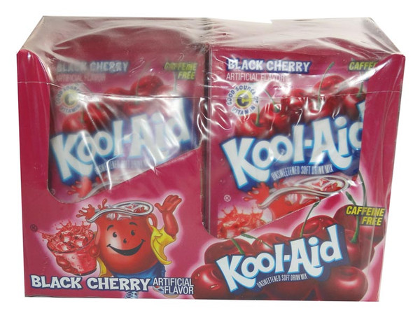 Kool Aid Pack - Black Cherry, by Kool Aid,  and more Beverages at The Professors Online Lolly Shop. (Image Number :6491)