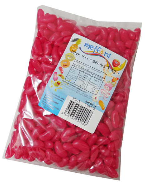 Metford Jelly Beans - Pink, by Metford Confectionery/Other,  and more Confectionery at The Professors Online Lolly Shop. (Image Number :6775)