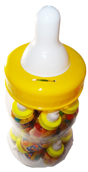 Baby Bottle Jelly Beans - Yellow - Assorted Colour Jelly Beans, by Universal Candy,  and more Confectionery at The Professors Online Lolly Shop. (Image Number :6059)